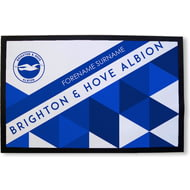 Personalised Brighton & Hove Albion Patterned Rubber Backed Door Mat