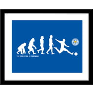 Personalised Leicester City Evolution Framed Print