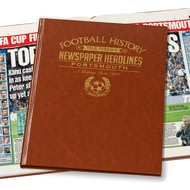 Personalised Portsmouth Football History Newspaper Book - Leatherette Cover