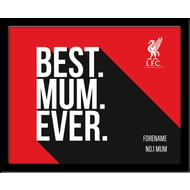 Personalised Liverpool FC Best Mum Ever 10x8 Photo Framed