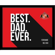 Personalised Sunderland AFC Best Dad Ever 10x8 Photo Framed