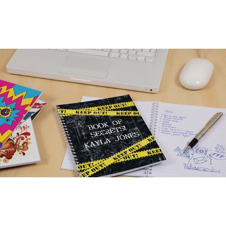 Personalised Top Secret - KEEP OUT! Notebook