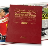 Personalised Nottingham Forest Football Newspaper Book
