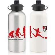 Personalised AFC Bournemouth Player Evolution Aluminium Sports Water Bottle
