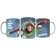 Personalised Toy Story Buzz Lightyear To Infinity and Beyond Ceramic Mug