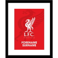 Personalised Liverpool FC Bold Crest Print
