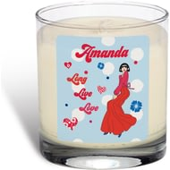 Personalised Riviera Long Live Love Scented Candle