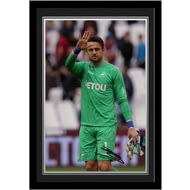Personalised Swansea City Fabianski Autograph Photo Framed
