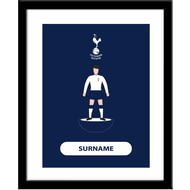 Personalised Tottenham Hotspur FC Player Figure Framed Print