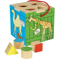 Personalised Dear Zoo Animals Wooden Shape Sorter Play Set