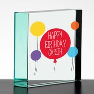 Personalised Happy Birthday Glass Block