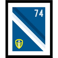 Personalised Leeds United FC Stripe Framed Print
