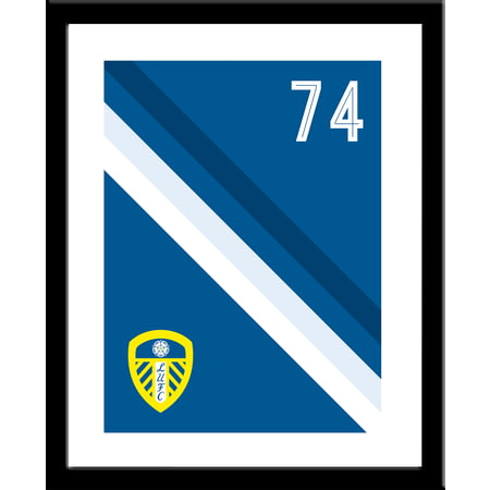 Personalised Leeds United FC Stripe Print
