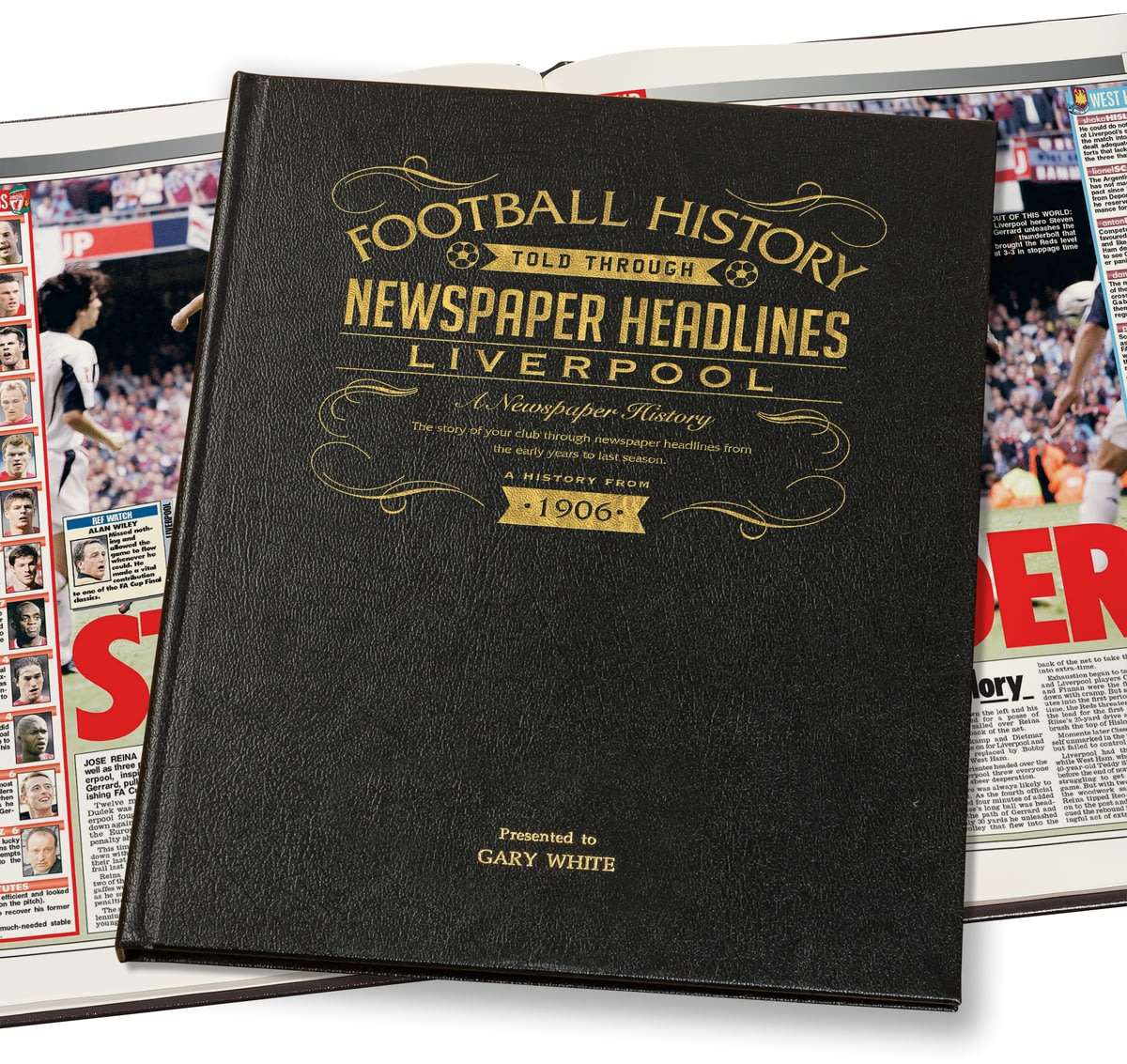 Buy Your Personalised Liverpool Football Newspaper Book
