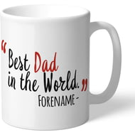 Personalised Nottingham Forest Best Dad In The World Mug