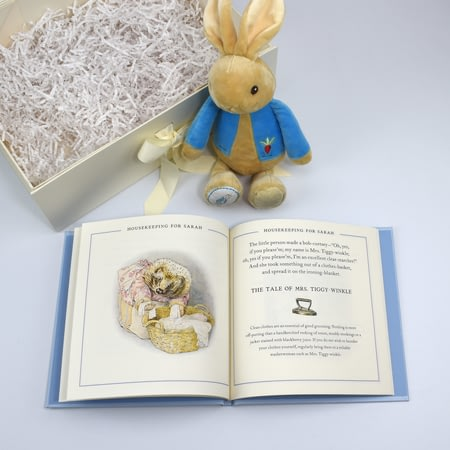 Personalised Peter Rabbit Guide To Life Book & Plush Toy Gift Set