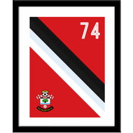 Personalised Southampton Stripe Framed Print