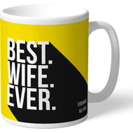 Personalised Watford Best Wife Ever Mug