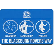 Personalised Blackburn Rovers FC Way Rubber Backed Large Floor Mat - 60x90cm