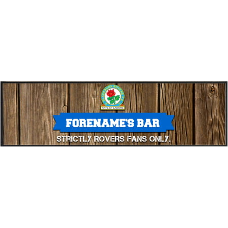 Personalised Blackburn Rovers Wood Name Large Bar Runner