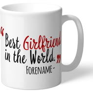 Personalised Brentford Best Girlfriend In The World Mug