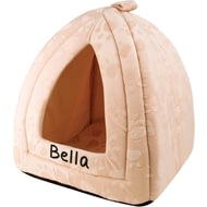 Personalised Cream Pyramid Pet Bed