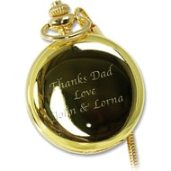 Personalised Gilt Fob Watch