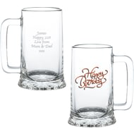 Personalised Happy Birthday Pint Glass Stern Tankard