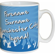 Personalised Manchester City FC Legend Mug