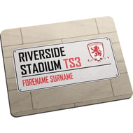 Personalised Middlesbrough FC Street Sign Mouse Mat
