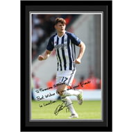 Personalised West Bromwich Albion FC Burke Autograph Photo Framed