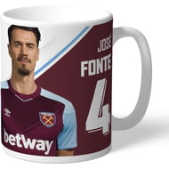 Personalised West Ham United FC Fonte Autograph Mug