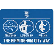 Personalised Birmingham City FC Way Rubber Backed Large Floor Mat - 60x90cm