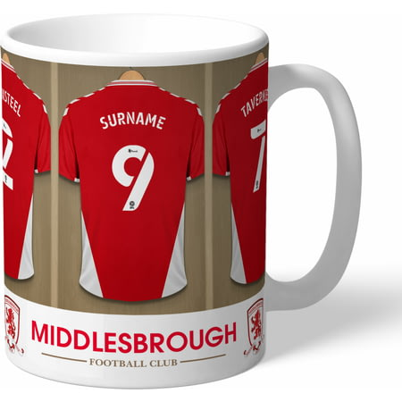 Personalised Middlesbrough FC Dressing Room Shirts Mug