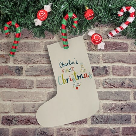 Personalised My First Christmas Stocking