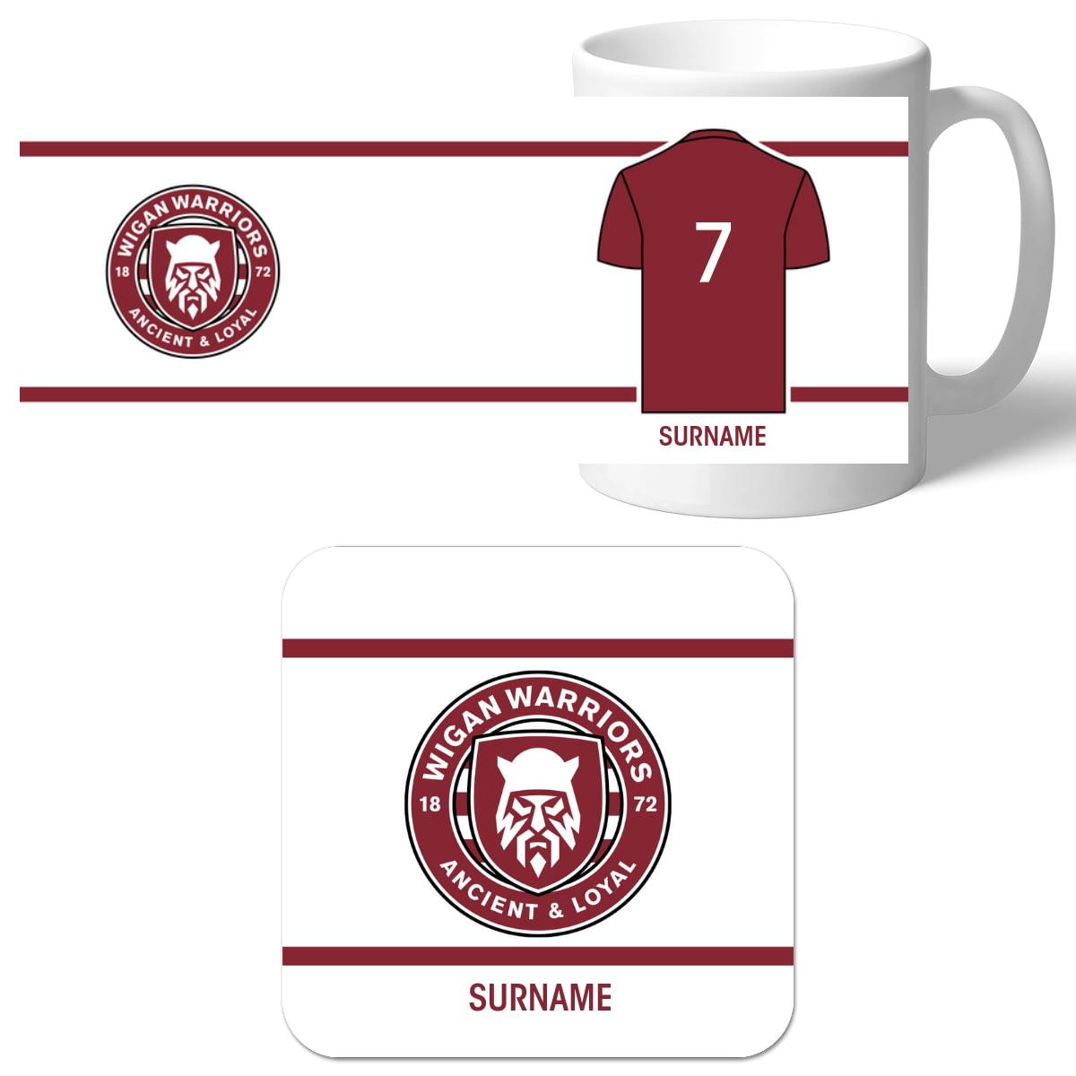 Wigan Warriors PERSONALISED Official Eat Sleep Drink Mug