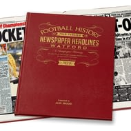 Personalised Watford Newspaper Book
