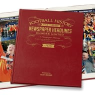 Personalised Dundee United Football Newspaper Book - Leather Cover