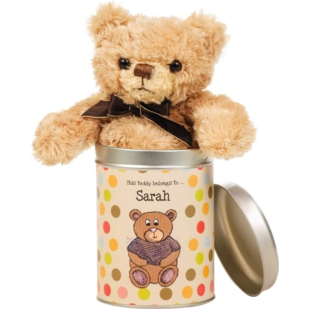 Personalised Any Occasion - Teddy In A Tin