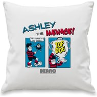 Personalised Beano Classic Comic Strip Top Dog Cushion Cover