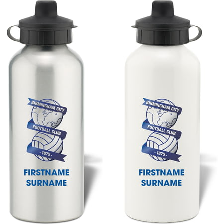 Personalised Birmingham City Bold Crest Aluminium Sports Water Bottle