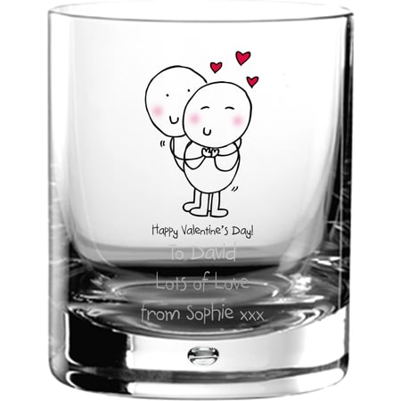 Personalised Chilli & Bubble's Valentines Glass Tumbler