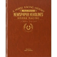 Personalised Horse Racing Historic Newspaper Book