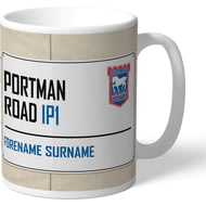Personalised Ipswich Town FC Portman Road Street Sign Mug