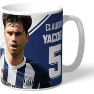 Personalised West Bromwich Albion FC Yacob Autograph Mug