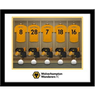 Personalised Wolves Dressing Room Shirts Framed Print