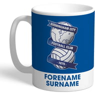 Personalised Birmingham City Bold Crest Mug