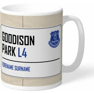 Personalised Everton FC Street Sign Mug