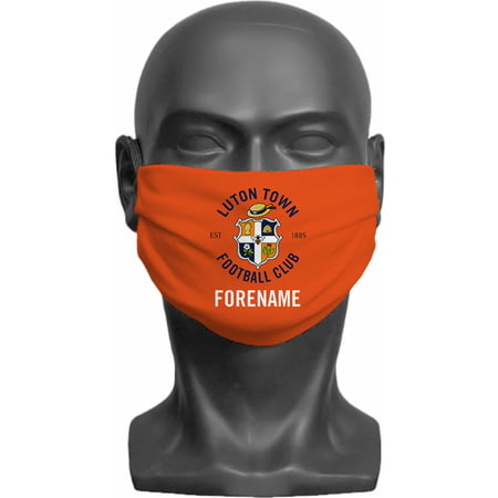 Personalised Luton Town FC Crest Adult Face Mask