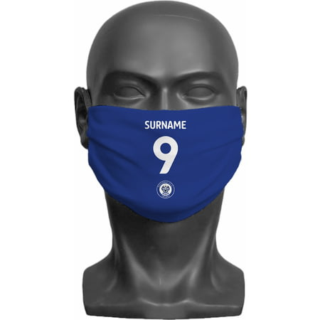 Personalised Rochdale AFC Back Of Shirt Adult Face Mask
